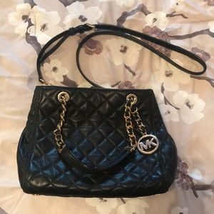Black Quilted Michael Khors Purse